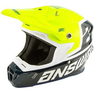 Answer 2020 AR-1 Voyd Youth Helmet Midnight/Hyper Acid/White