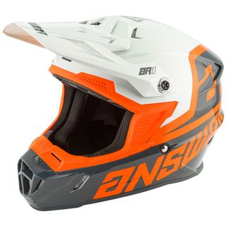 Answer 2020 AR-1 Voyd Youth Helmet Charcoal/Grey/Orange