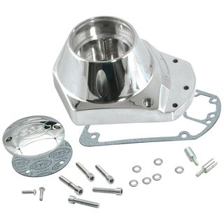 S&S Chrome Billet Alternator Gearcover Kit for 1973-'92 HD Big Twins