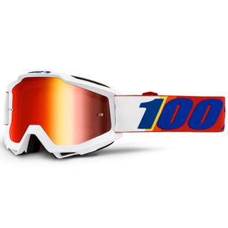 100% Accuri Goggle Minima Mirror Red Lens