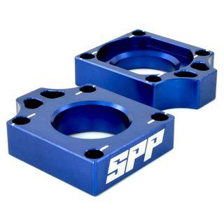 SPP Axle Block Suzuki RMZ250-450 DRZ400SM Blue