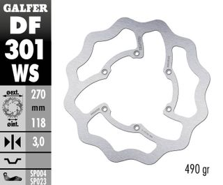 DF301WS OVERSIZE SOLID MOUNT ROTOR