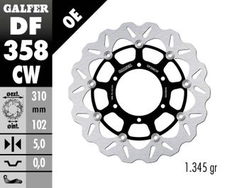 DF358CW ROTOR FRONT