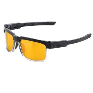 100% Type-S Sunglasses Licorice with Gold Mirror Lens