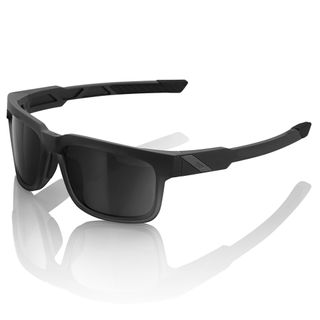 100% Type-S Sunglasses Soft Tact Black with Smoke Lens