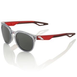 100% Campo Sunglasses Polished Crystal Grey with Smoke Lens