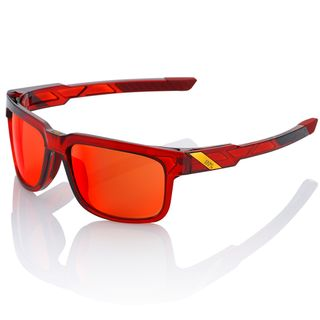 100% Type-S Sunglasses Cherry Palace with Deep Red Mirror Lens