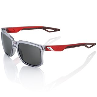 100% Centric Sunglasses Polished Crystal Grey with Smoke Lens
