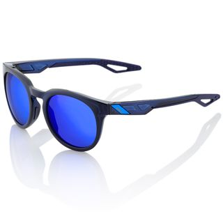 100% Campo Sunglasses Polished Translucent Blue with Eletric Blue Lens