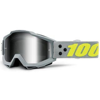 100% Accuri Goggle Berlin Silver Tinted Lens