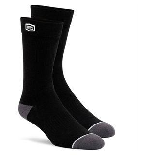 100% Casual Solid Black Socks