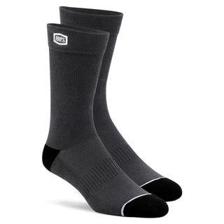 100% Casual Solid Grey Socks