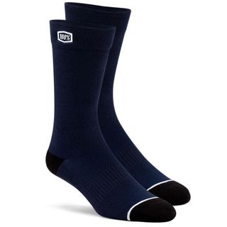 100% Casual Solid Navy Socks