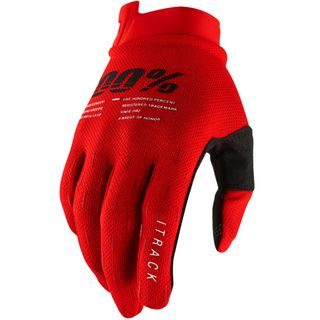 100% iTrack Red Gloves