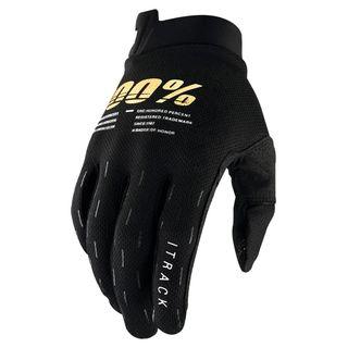 100% iTrack Black Gloves