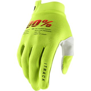 100% iTrack Fluo Yellow Gloves