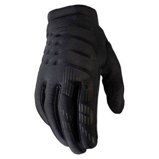 100% Brisker Black/Grey Youth Gloves