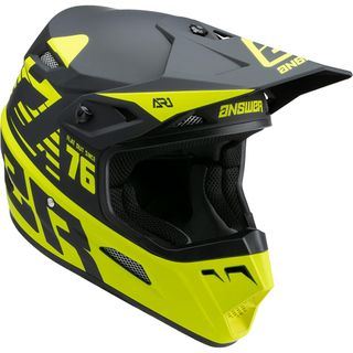 Answer 2022 AR-1 Helmet Youth Bold Hyper Acid/Black