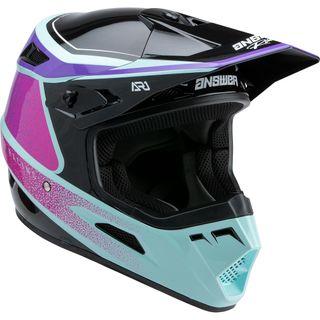 Answer 2022 AR-1 Helmet Youth Vivid Purple/Rhodamine Seafoam