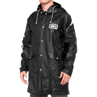 100% Torrent Raincoat Black