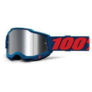 100% Accuri2 Goggle Odeon Flash Silver Lens