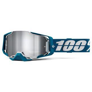 100% Armega Goggle Albar Flash Silver Lens