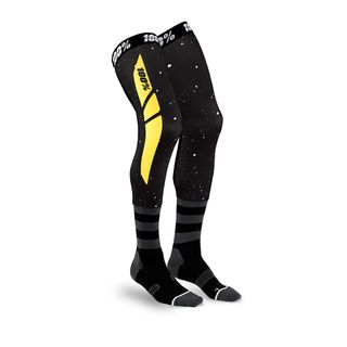 100% Rev Knee Brace Sock Black/Yellow