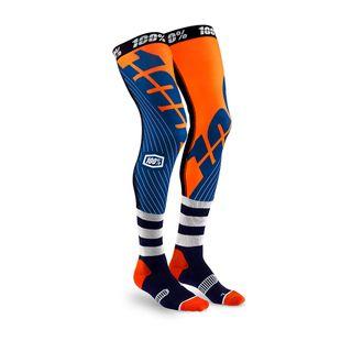 100% Rev Knee Brace Sock Navy/Orange