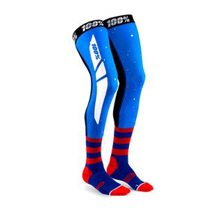 100% Rev Knee Brace Sock Blue/Red
