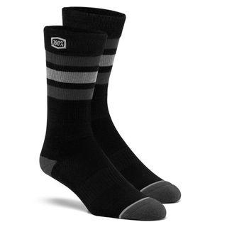 100% Casual Stripes Black Socks