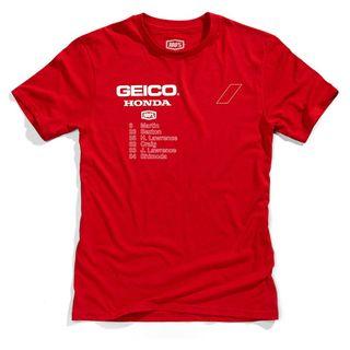 100% Geico Honda Outlier Red T-Shirt