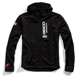 100% Geico Honda Aeronaut Black Softshell Jacket