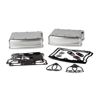 Delkron Rocker Box Kit Harley Davidson Twin Cam Smooth Style Chrome