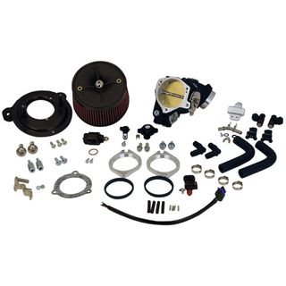 S&S 70mm Induction Kit for Cable Operated 2007-'17 HD Dyna & 2006-'07 Touring Models with S&S T143 Engine