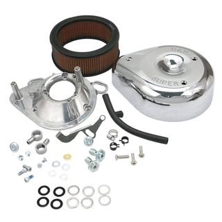 S&S Teardrop Air Cleaner Kit For S&S Super E & G Carburetors For 1993-'99 HD Big Twins and 1991-'03 Sportster Models.