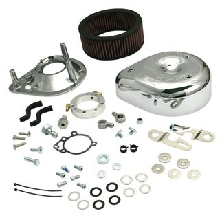S&S Teardrop Air Cleaner Kit for 2007-'19 HD XL Sportster Models with Stock EFI - Chrome