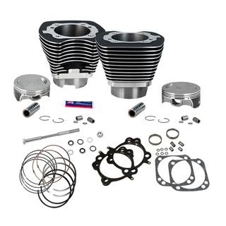 "S&S 124"" Standard Compression 4-1/8"" Big Bore Kit for 2007-'16 Big Twins - Wrinkle Black Finish"