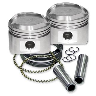 "S&S 80"" Pistons for 1984-'99 HD Big Twins W/ Super Stock Heads - Standard - +.010"""