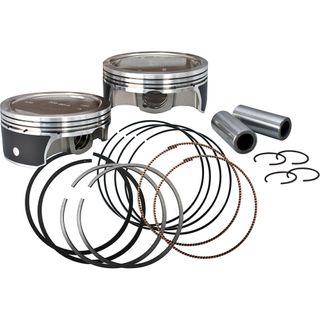 "S&S Low Compression Forged Stock Bore Stoker Pistons For 1936-'84 HD Big Twins - 3-7/16"" +.060"""