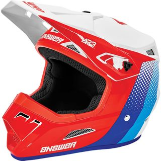 Answer 2021 Pace AR-3 Helmet White/Red/Hyper Blue