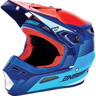 Answer 2021 Swish Youth AR-1 Helmet Pro Blue/Astana/Red