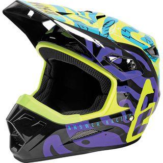 Answer 2021 Hypno Youth AR-1 LE By Mute0N Helmet Hyper Acid/Astana/Dark Purple
