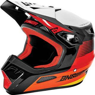 Answer 2021 Swish Youth AR-1 Helmet Red/Orange/Silver