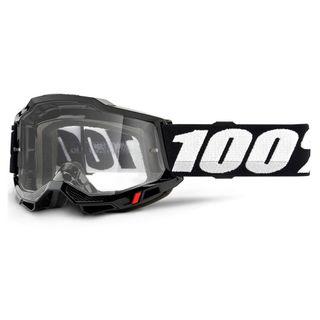 100% Accuri2 Goggle Black Clear Lens