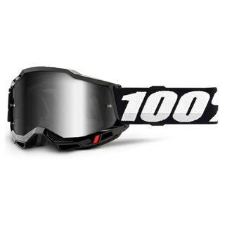 100% Accuri2 Goggle Black Mirror Silver Lens