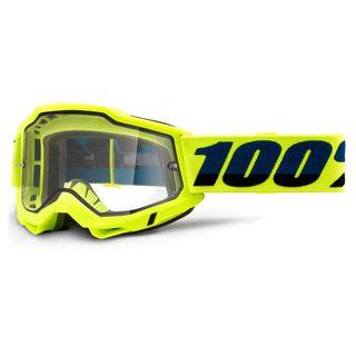 100% Accuri2 Enduro Moto Goggle Yellow Clear Lens