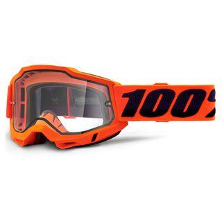 100% Accuri2 Enduro Moto Goggle Orange Clear Lens