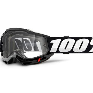 100% Accuri2 Enduro Moto Goggle Black Clear Lens