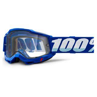 100% Accuri2 Enduro Moto Goggle Blue Clear Lens