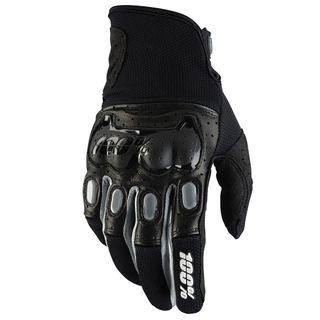 100% Derestricted Black/Grey Gloves